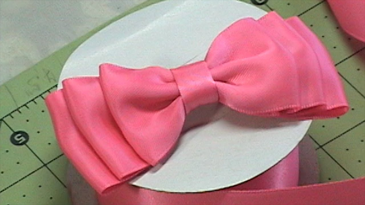 DIY Make Hair Bow, Ribbon bow, Bow Tie, Tutorial #1, DIY ...