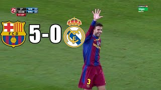 Barcelona vs real madrid (5-0) hd with stadium noise crowd legendary - st...