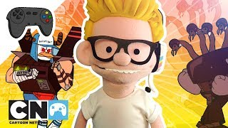 Toony der video-Spiel-Kampf der Giganten, ein Spiel für Regelmäßige Show   Cartoon Network