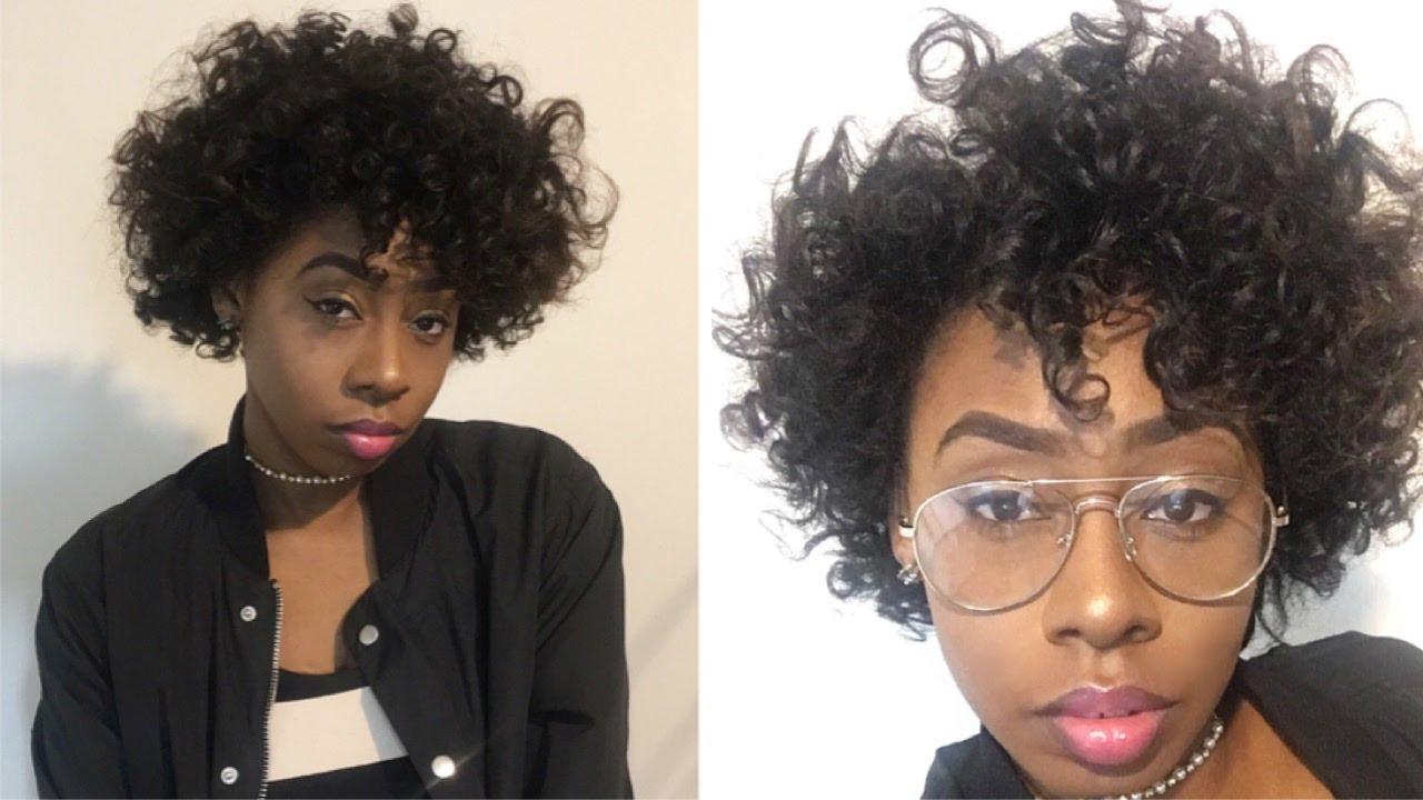 Overnight Heatless Curls Bantu Knot Out Straight Short Natural
