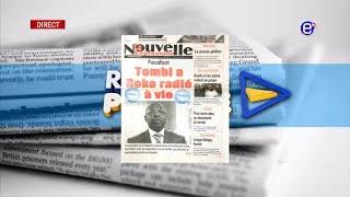 LA REVUE DES GRANDES UNES DU LUNDI 15 JUILLET 2019 - ÉQUINOXE TV