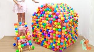 メルちゃん カラーボールのおうち ベビーカー / Colored Plastic Ball House and Mell-chan Doll : Ball Pit Show
