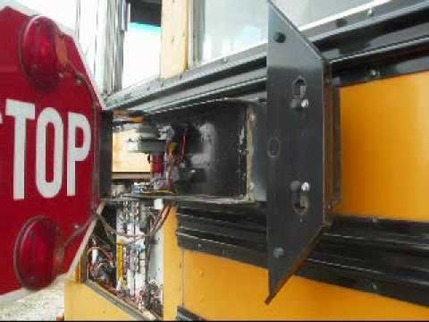 school bus stop sign repair