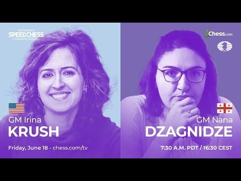 Krush vs Dzagnidze   Women's Speed Chess Championship