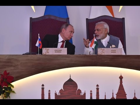 PM Modi & President Putin at Joint Press Statement during India-Russia Annual Summit in Goa, India