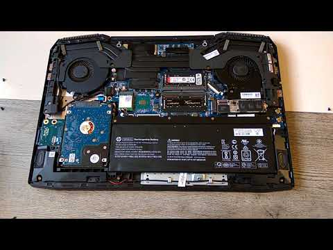 HP Omen 15 2018 disassembly and upgrading SSD and RAM