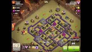clash of clans - th8 vs th8 - 3 stars - itaclanwar3 vs regulators