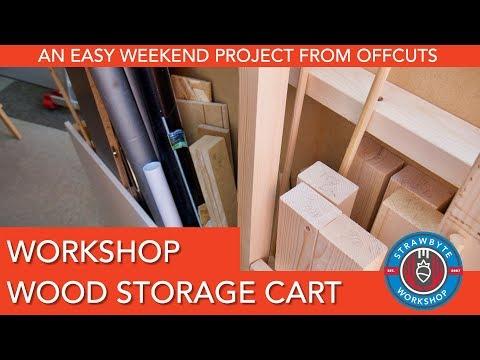 Workshop Wood Storage Cart | Easy Weekend Project