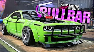 Need for Speed HEAT - NEW BULLBARS & BLOWER Customization MOD! (Dodge Challenger)