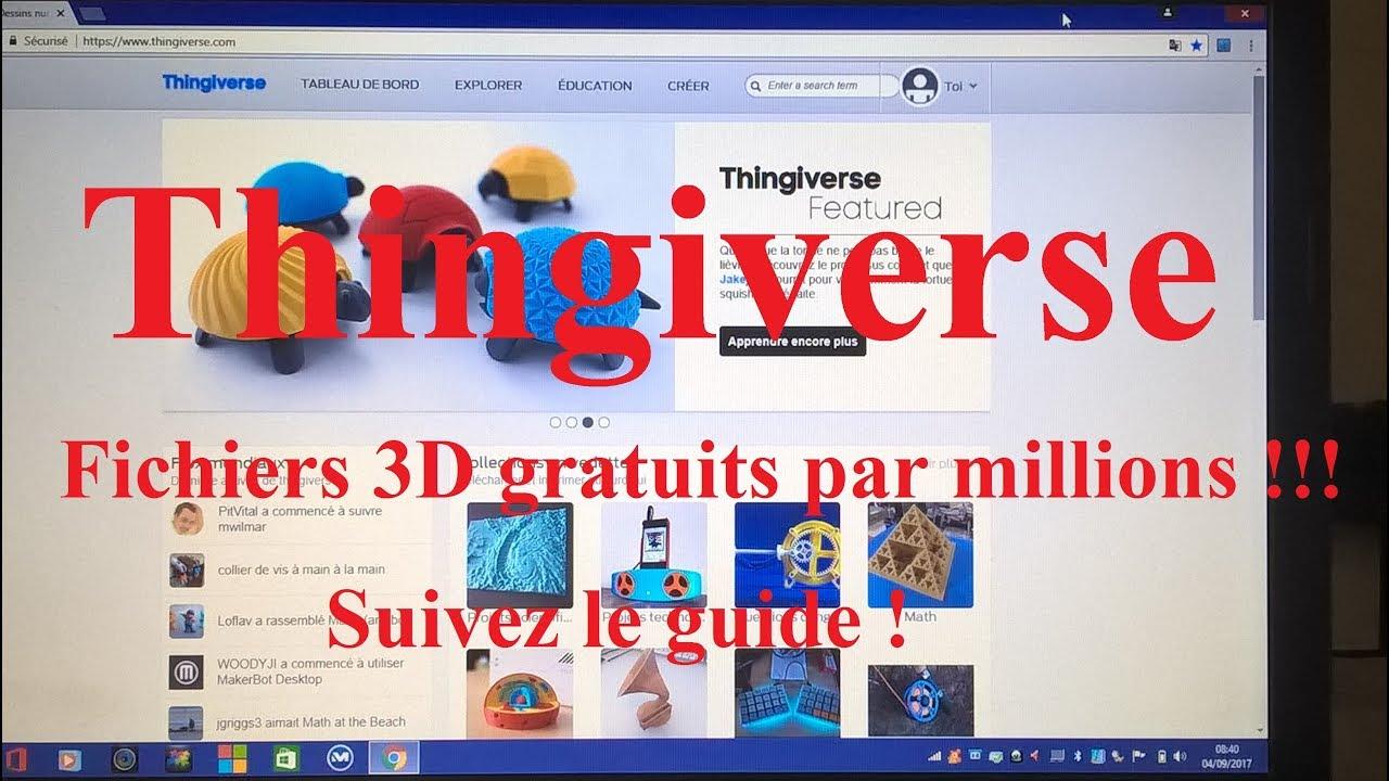 TUTO site de fichiers Impressions 3D gratuits
