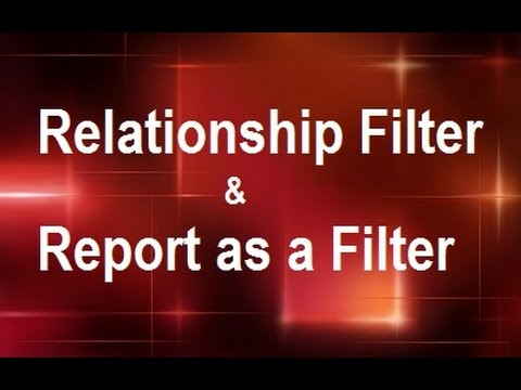MicroStrategy - Relationship Filter & Report as a Filter  - Online Training Video by MicroRooster