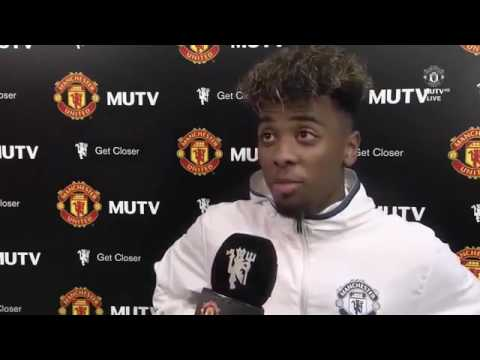 CREATING HISTORY | Angel Gomes Post Match Interview - Manchester United vs Crystal Palace