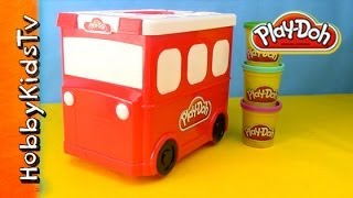 Play-doh Firetruck Storage Box - Toy Review For Kids - Includes Molds