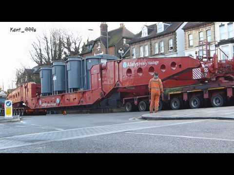 Abnormal load - Abload - 318-tonne Electricity transformer at Dover, Kent