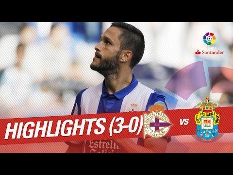 Resumen de Deportivo de la Coruña vs UD Las Palmas (3-0)