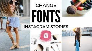 CHANGE FONT ON INSTAGRAM STORIES & BIO| INSTAGRAM HACKS 2017