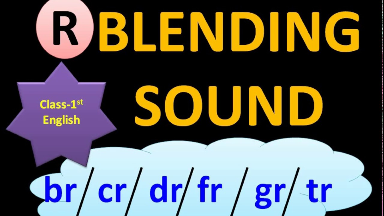 hight resolution of r blending words  consonant blend  r blend souns  class 1 english worksheet   1st class english - YouTube