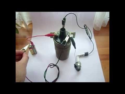 Manually creating Sparks (Ignition Coil + 9v Battery)
