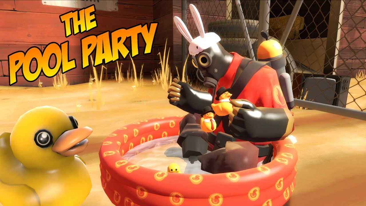 TF2: The Pool Party [NEW PYRO TAUNT!]