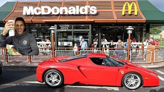 MCDONALDS DRIVE THRU WITH £2,500,000 FERRARI!