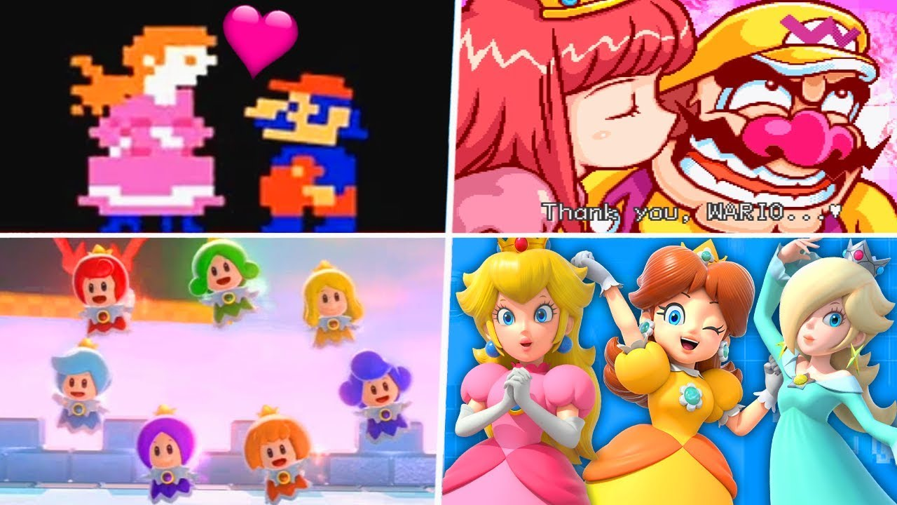 Evolution Of Super Mario Princesses 1981 2019 Youtube