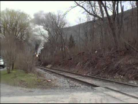 #11 2 6 0 rare Mogul Steam locomotive on the Everett Railroad outside Hollidaysburg,PA March 19 2016