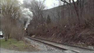 #11 2 6 0 rare Mogul Steam locomotive on the Everett Railroad outside Hollidaysburg,PA March 19 2016