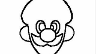 Mario Song Luigi Drawing