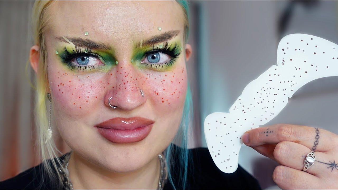 I tried freckle tattoos…