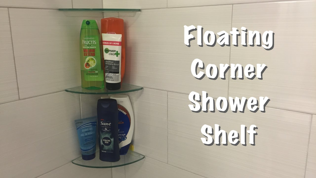 Floating Corner Shower Shelf - YouTube