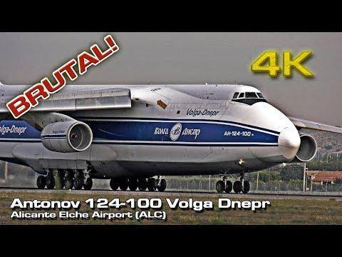 Amazing Takeoff Antonov An-124-100 Ruslan [4K] Volga Dnepr Alicante! (RA-82044)