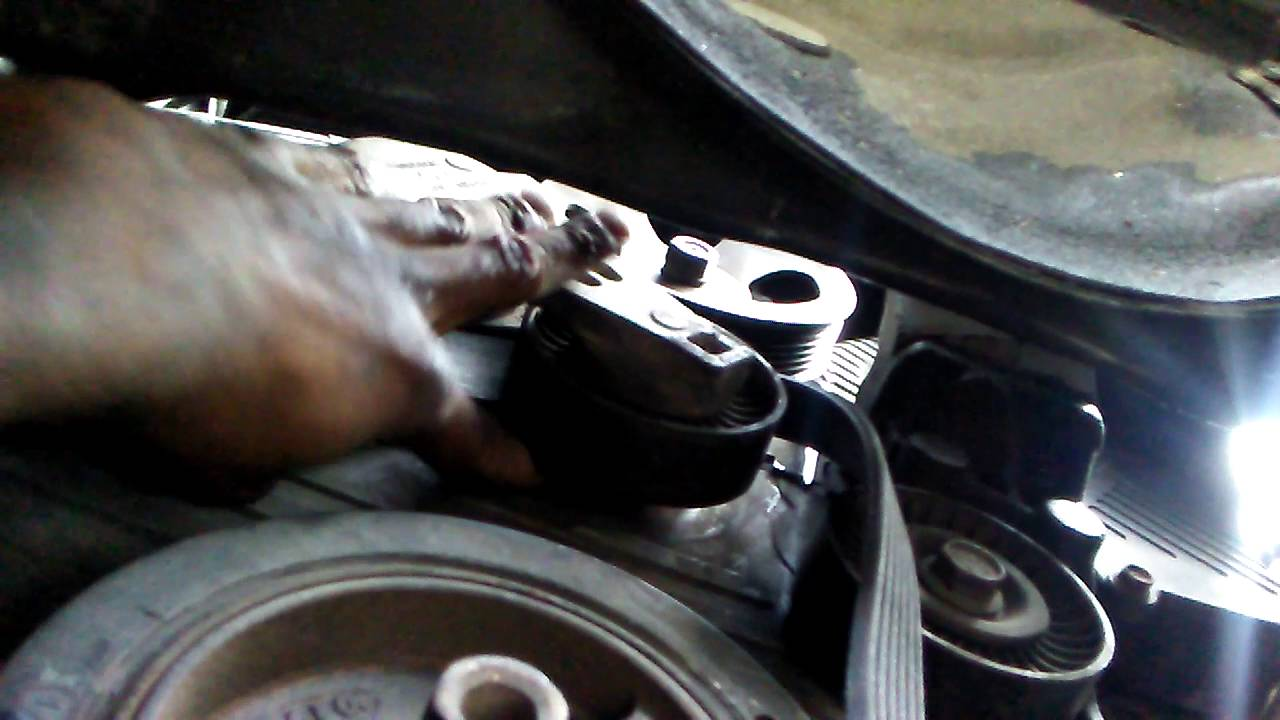 hight resolution of how to remove serpentine belt 2004 hyundai santa fe 2 7