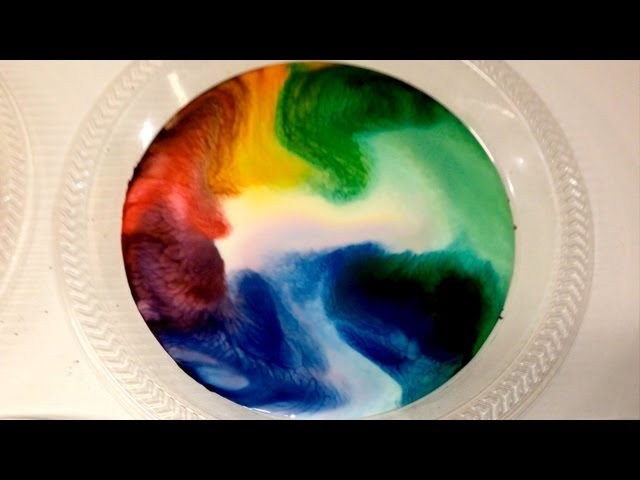 Milk Food Coloring And Dish Soap Experiment Incredible Science Youtube