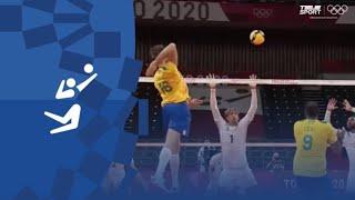 Бразилия Франция Волейбол муж Групповой турнир Олимпиада 2020 Обзор матча