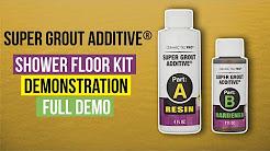 Ceramic Tile Pro Super Grout Additive® Shower Floor Kit Demonstration
