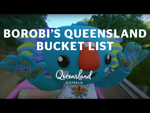 1 YEAR TO GO! Gold Coast 2018 Commonwealth Games Mascot Borobi's Queensland Bucket List