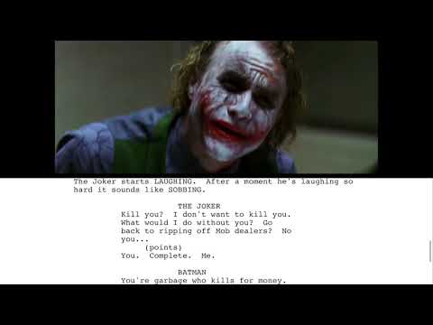 Script To Screen: The Dark Knight Joker Interrogation Scene 4k