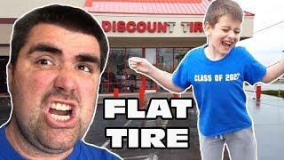 Kid Temper Tantrum Hammers Screw In Family Van's Tire [ Original ]