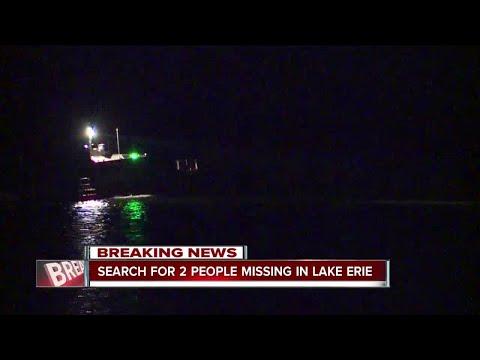 U.S. Coast Guard searches for two people missing in Lake Erie near Ashtabula