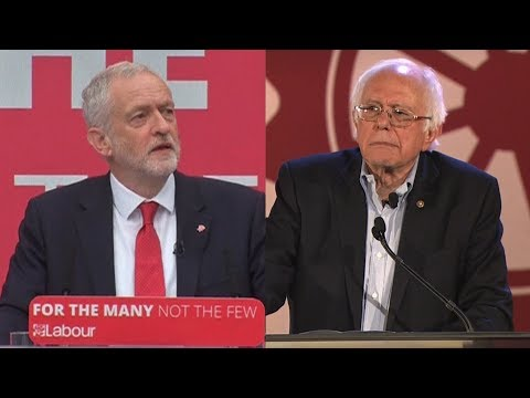 Jeremy Corbyn, Bernie Sanders & Youth-Led Grassroots Progressive Insurgencies, From YouTubeVideos