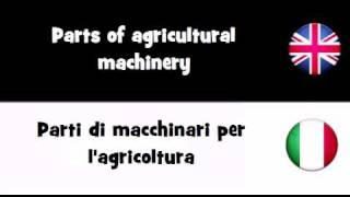 SAY IT IN 20 LANGUAGES = Parts of agricultural machinery