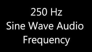 250 Hz Sine Wave Sound Frequency Tone