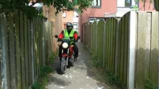 BMW K75 drive by before and after a ride