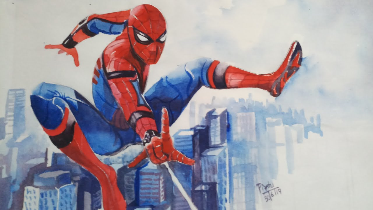 Painting of Spider-Man: Homecoming trailer | Spider-Man 3 ...