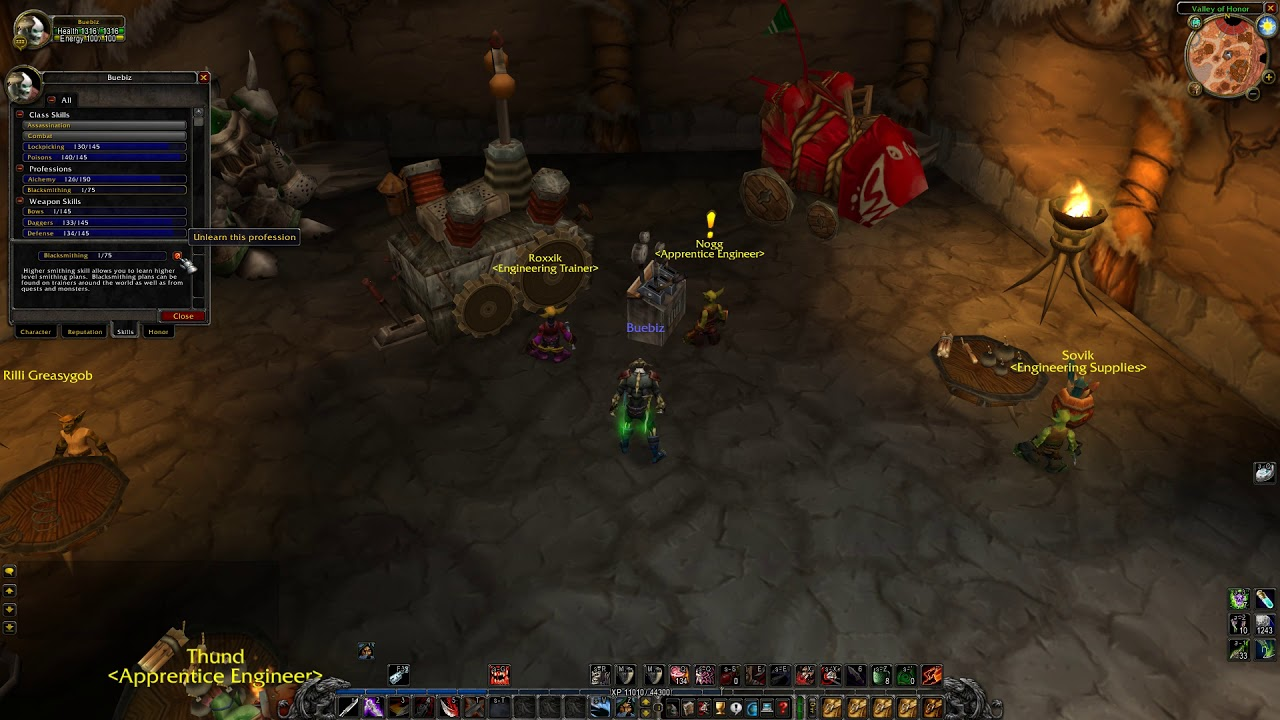 How To Unlearn A Profession In Wow Classic Youtube