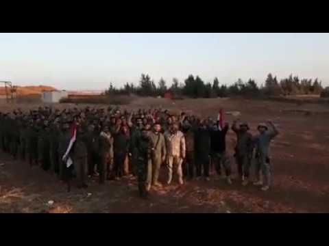 Syrian Army chants Houthi slogan out of solidarity