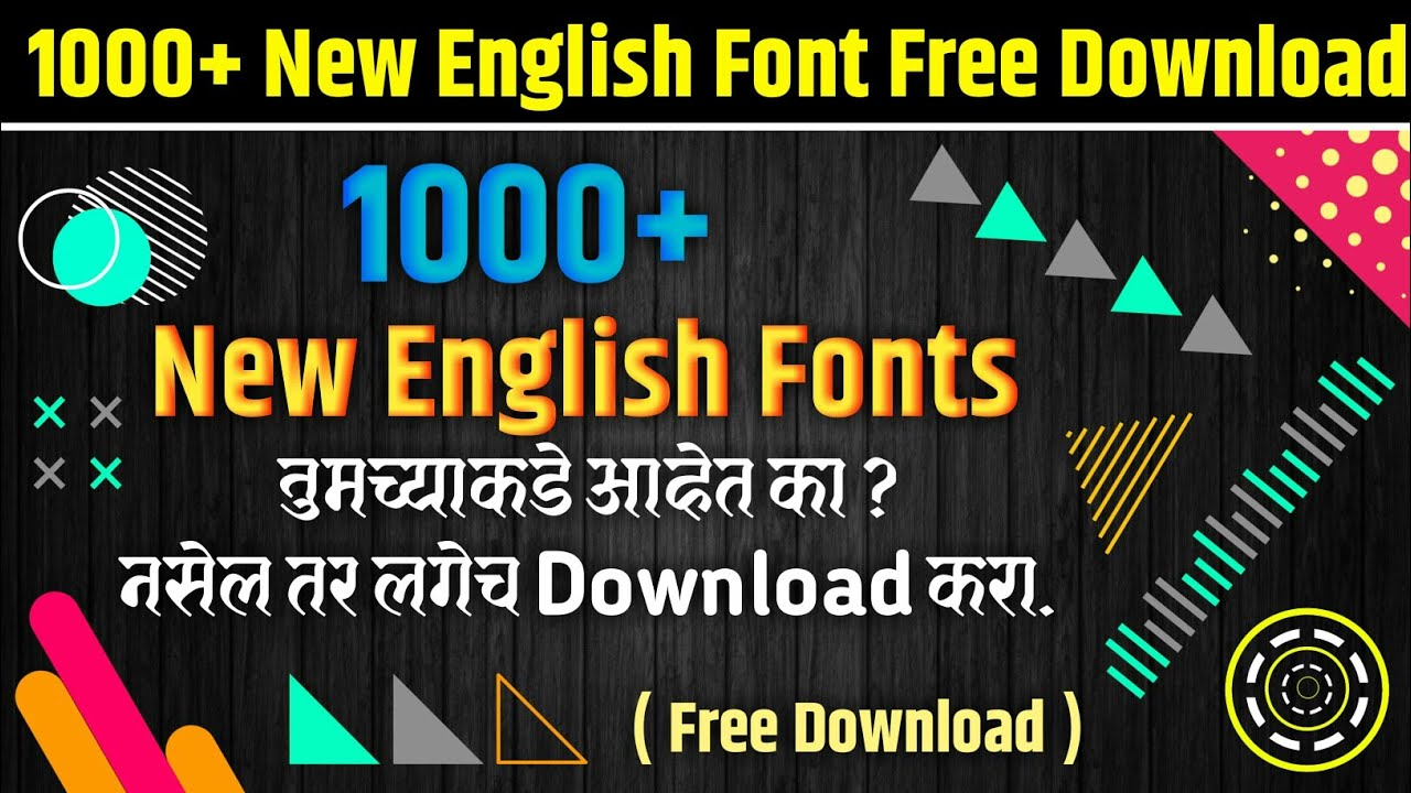 Download New English Fonts Pack Free Download | Sk Graphics ...