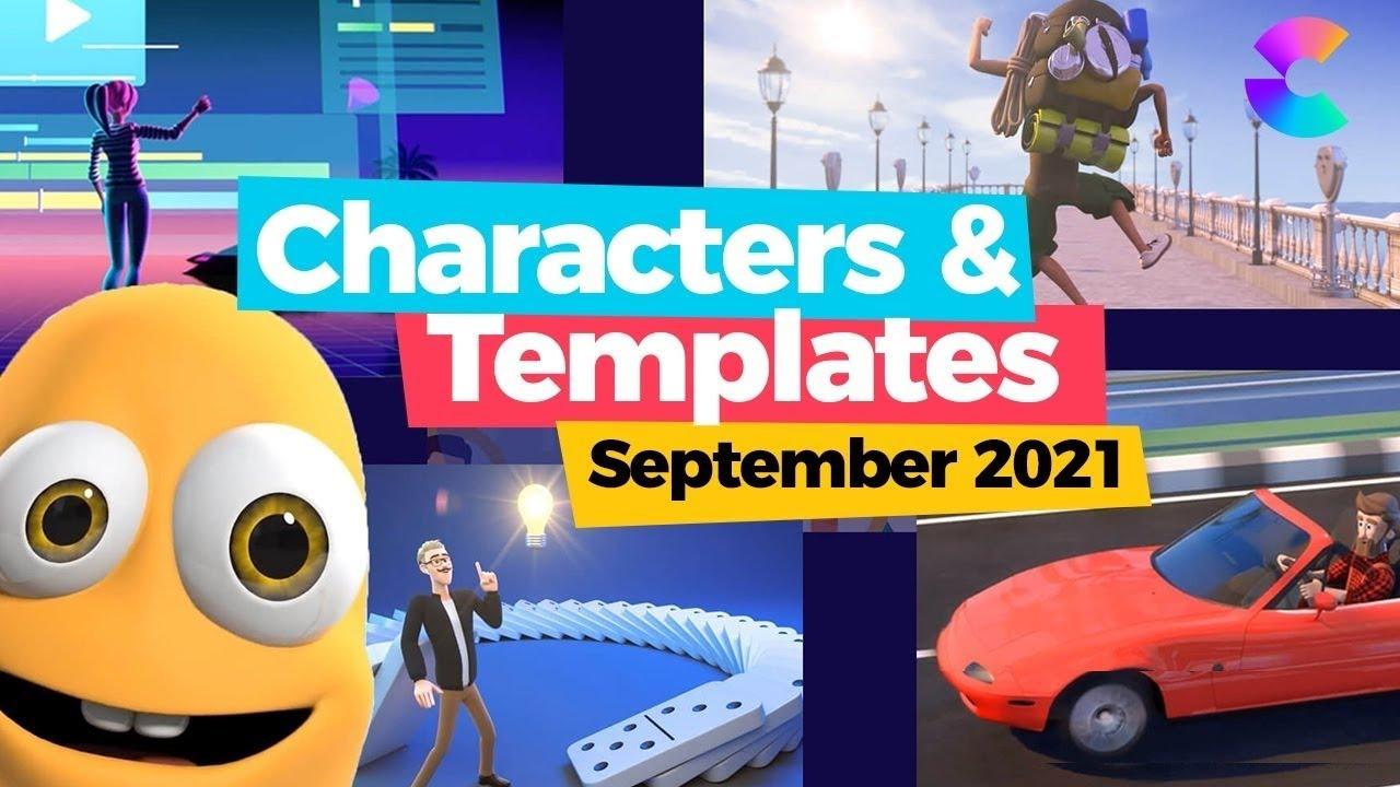 CreateStudio 3D Scenes + New Characters & Video Templates September 2021