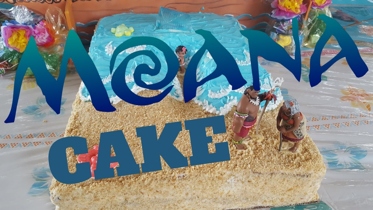 Easy Toddler Moana Cake