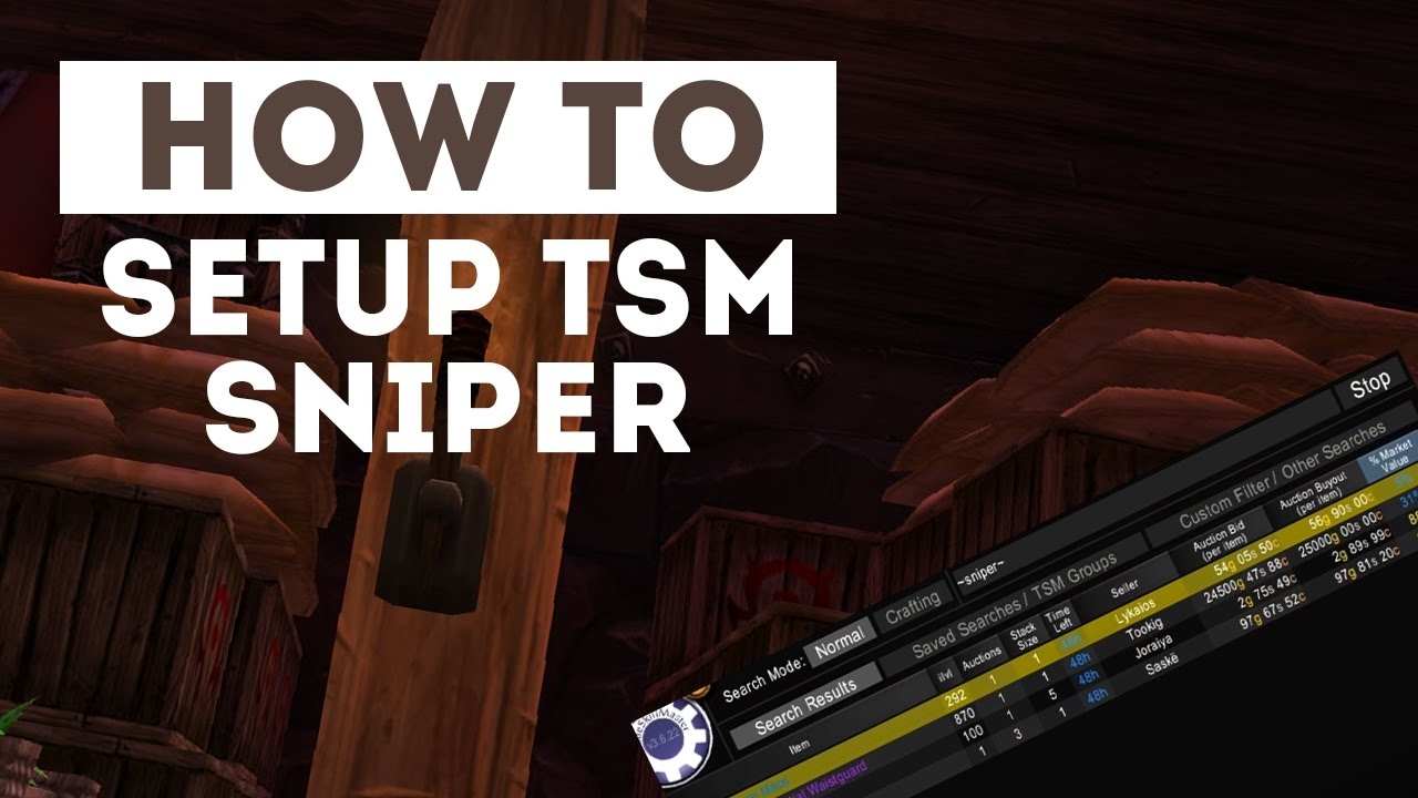 How to Setup & Use TSM Sniper!